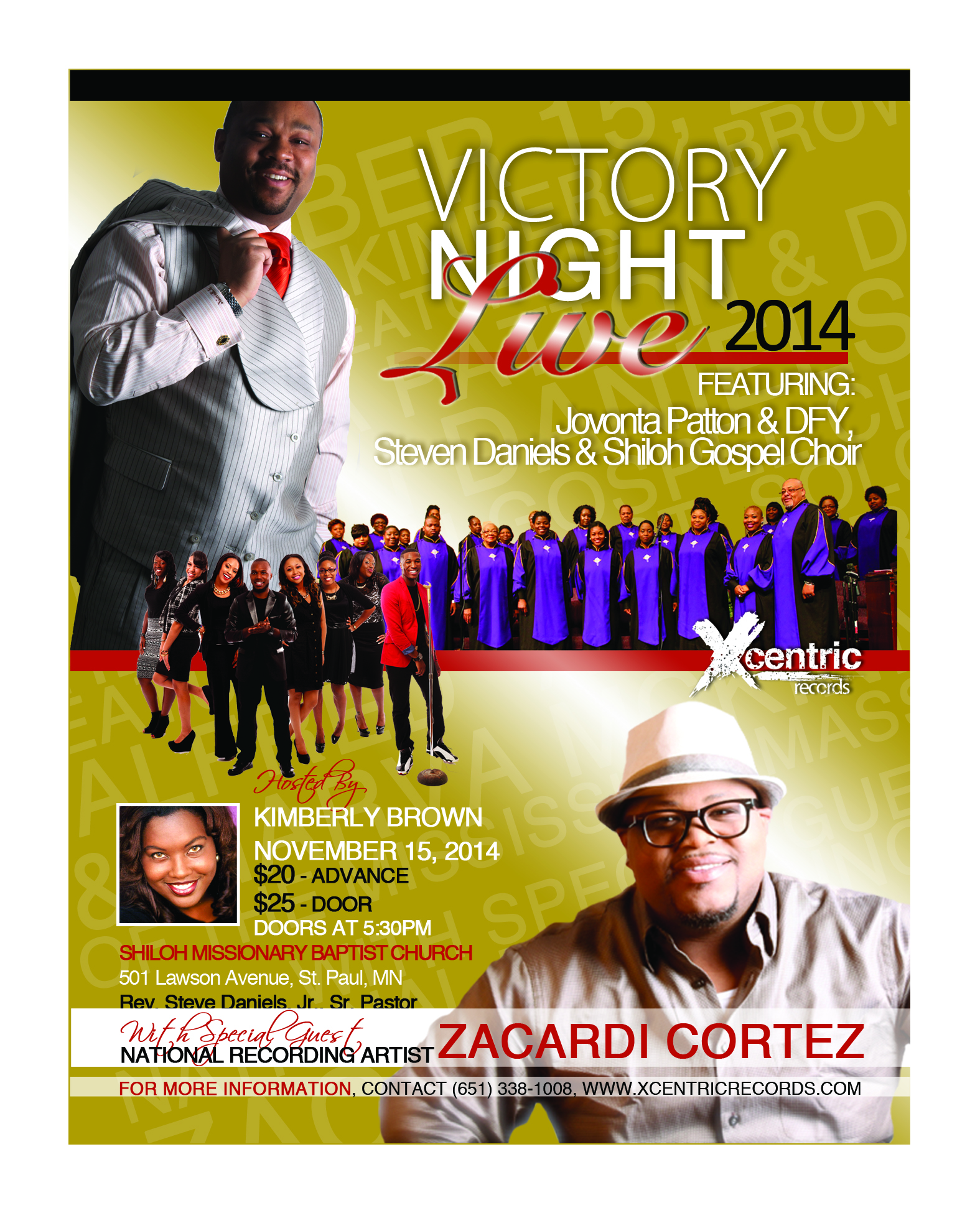Victory Night Live 2014 Main Flyer